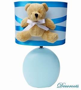 Lampe De Chevet Garçon : lampe design ours peluche bleu enfant b b luminaire ~ Dailycaller-alerts.com Idées de Décoration