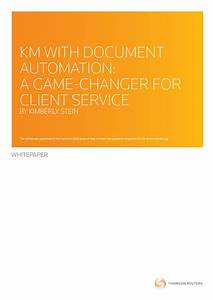 km with document automation a game changer for client With legal document automation