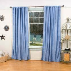 blue curtain panels light blue rod pocket velvet curtain drape panel