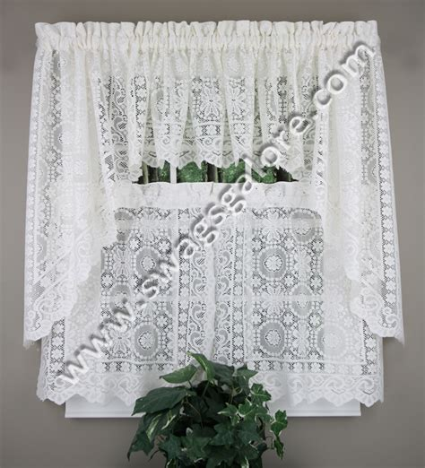 new rochelle lace kitchen curtains white united