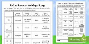 School Roll Template Roll A Summer Holidays Story Storyboard Template English