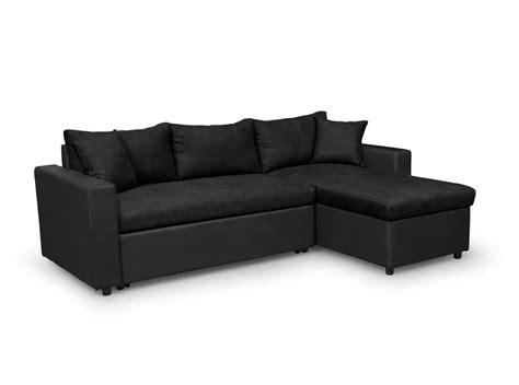 canapé d 39 angle réversible et convertible avec coffre noir