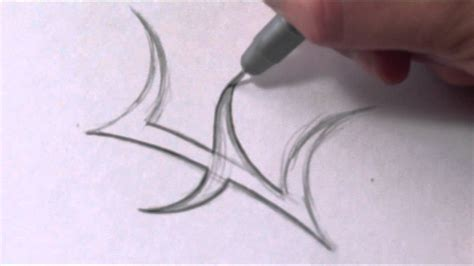 How To Draw A Simple Tribal Letter E