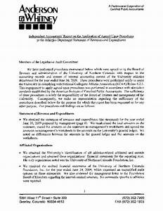 independent accountant39s report on the application of With agreed upon procedures report template