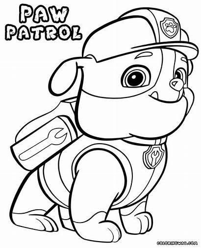 Chase Paw Patrol Coloring Pages Printable Getcolorings