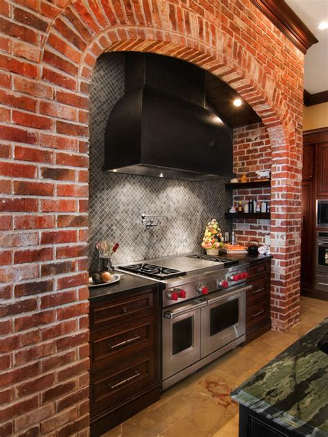 brick kitchen ideas pictures remodel  decor