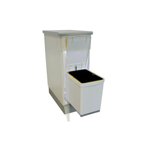 poubelle de cuisine encastrable poubelle rectangulaire 1 bac 16l blanc