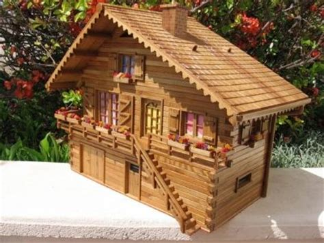 maquettes bois chalet tout droit sorti de mon imagination en orme vous 234 tes fan de mod 233 lisme