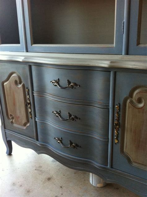Annie sloan old violet and French linen   Furniture