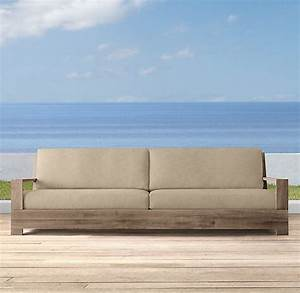 101quot belvedere luxe sofa cushions outdoor furniture With restoration hardware outdoor sectional sofa