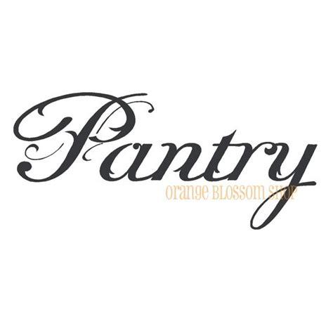 vinyl lettering pantry    etsy home