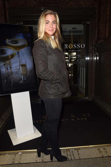 gemma atkinson leaving rosso restaurant  manchester uk
