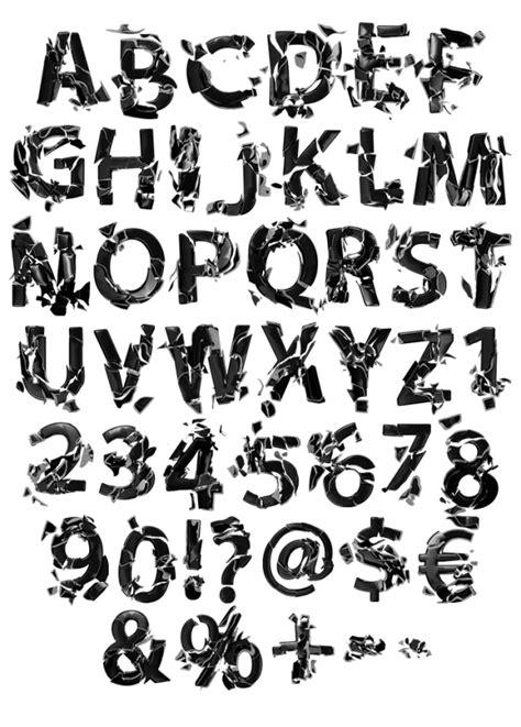 A Broken Life Font. Express Emotions With Black Font