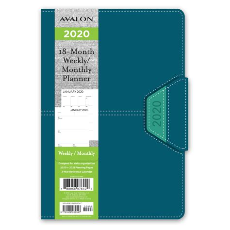 avalon color leatherette month weeklymonthly planner
