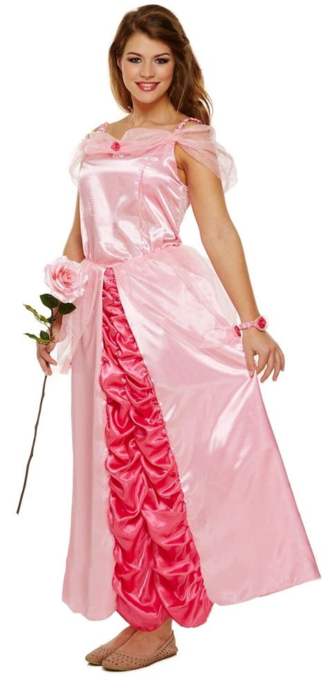 kostüm kinder wars damen rosa sleeping prinzessin m 228 rchen kost 252 m kleid uk 8 10 12 ebay