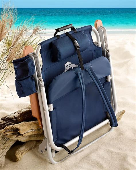 tommy bahama beach concert chair navy deluxe backpack