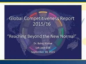 Dr. Balraj Kistow's PPT: WEF GCR 2015