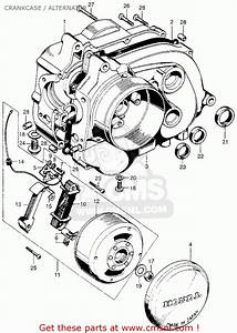 Honda Qa50 1973 K1 Usa Crankcase    Alternator   Alternator Spares Online