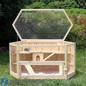 Cage A Cochon D Inde : songmics grande cage en bois pour cochon d 39 inde ~ Dallasstarsshop.com Idées de Décoration