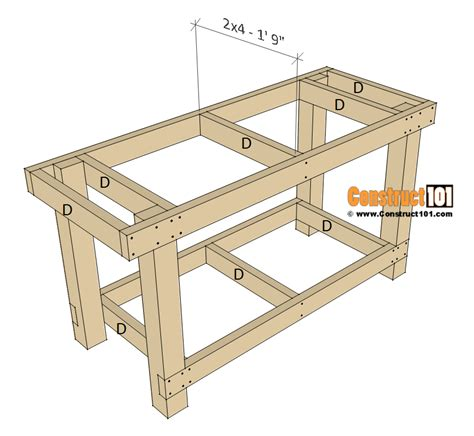 simple workbench plans construct workbench plans