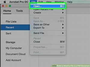How to attach a file to a pdf document 10 steps with for Pdf document versions