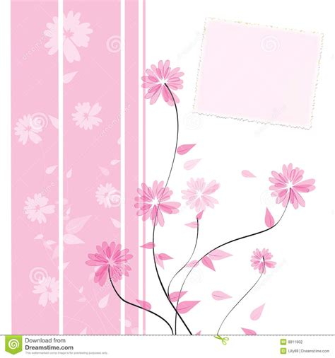 flower card design stock photography image