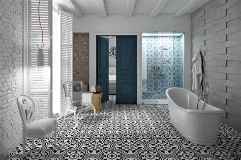 vintage style floor tiles  spectacular eclectic