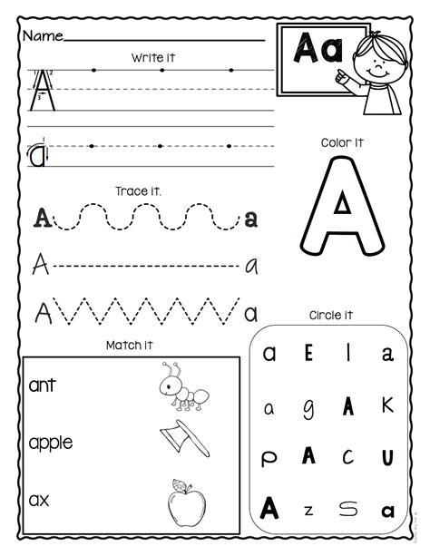 letter worksheets set  alphabet worksheets