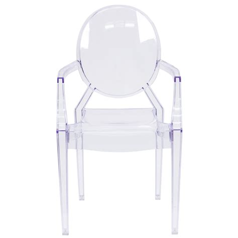 ghost chair with arms in transparent fh 124 apc