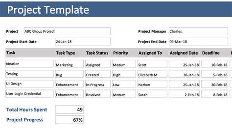 excel templates   project management excel