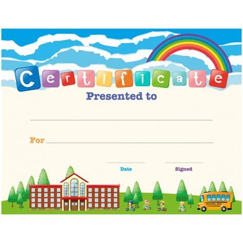 children certificate design vector