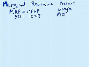 Marginal revenue product and labor - YouTube