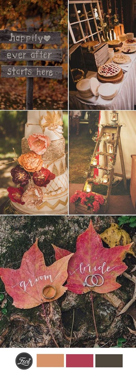 fall wedding ideas  pinterest