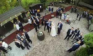 wedding drones fast becoming a trend With drone wedding pictures