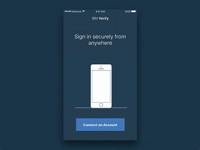 Animation Verify Welcome Ibm Factor Authentication Dribbble