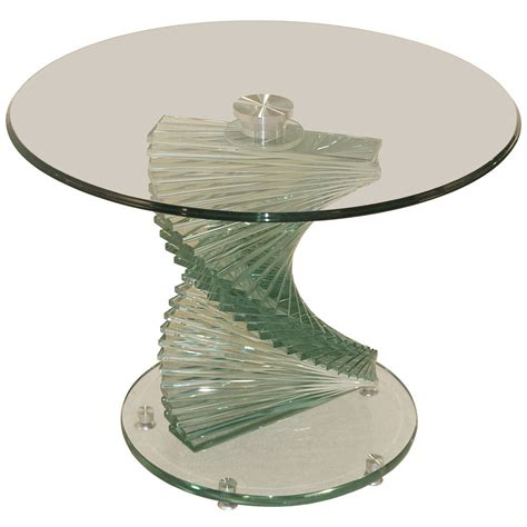 small round glass table clear glass end l small round side table ebay