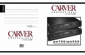 Free Download Carver Pm 950 Owners Manual