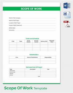 construction scope of work template excel With scope of works template free