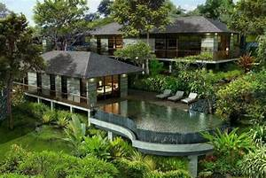 Amazing forest home with pool house and incredible pool ...