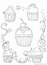 Coloring Pages Cupcake Sprinkles Adults Adult Cupcakes Sheets Template sketch template