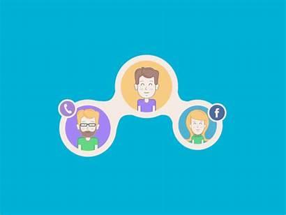 Social Network Animation Communication Studio Tubik App