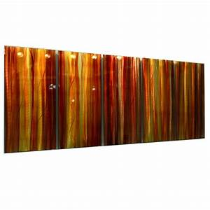 autumns prism red yellow orange contemporary metal With orange wall art