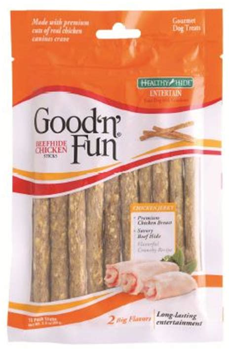 Good 'n' Fun Beefhide Chicken Sticks Recall September 2015
