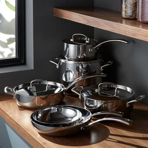cuisinart french classic stainless steel  piece cookware set crate  barrel