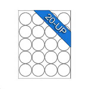 Template For Labels 30 Per Sheet 2 Inch Circle Laser Inkjet White Blank Labels Permanent Adhesive Stickers Ebay