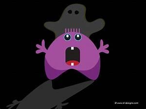Halloween desktop wallpaper - cute monster and ghost- by ...