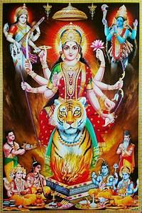 Hindu Cosmos - Brahma Vishnu Shiva Kali Saraswati Worship ...