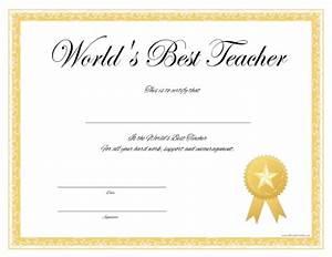 Best Teacher Certificate Templates Free Heanordirect Info