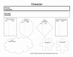 Printable Character Review Diagram For Use With Any Book