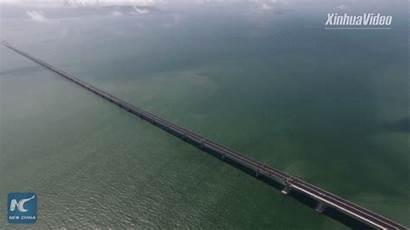 China Bridge Sea Hong Kong Longest Zhuhai